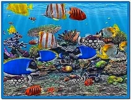 Animated Fish Tank Screensaver