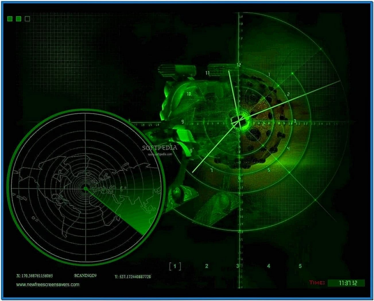 Animated Radar Screensaver