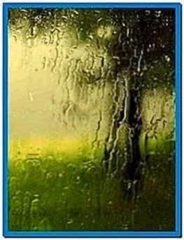 Animated Rain Screensaver