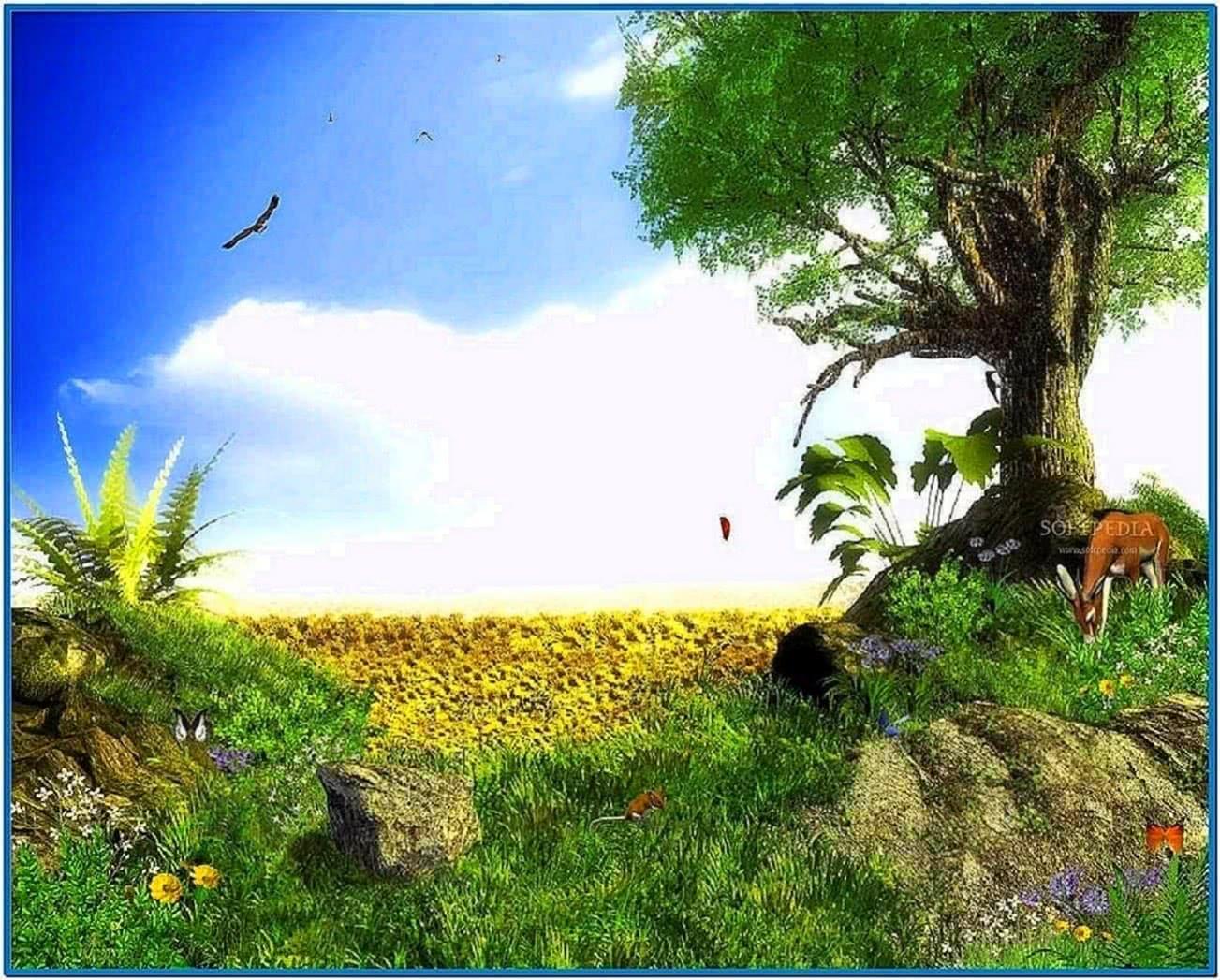Animated screensavers for computer