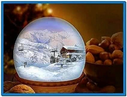 Animated Snow Globe Screensaver