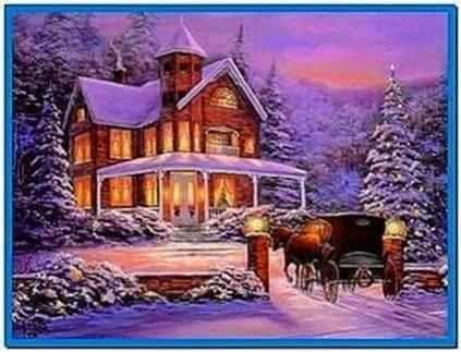 Animated Snow Scene Screensaver