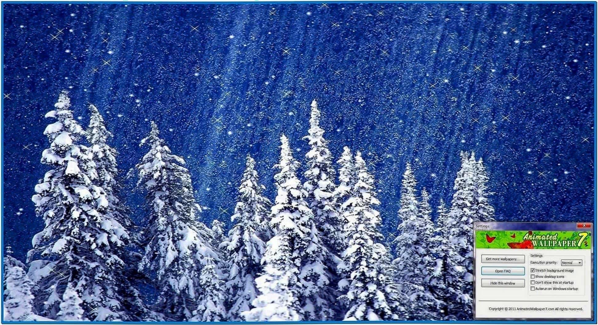 Animated snowfall screensaver