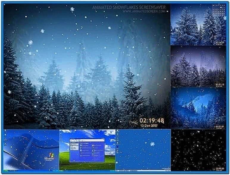 Animated Snowflakes 3D Screensaver 2.7