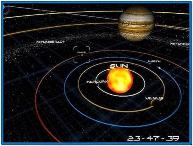 Animated Solar System Screensaver