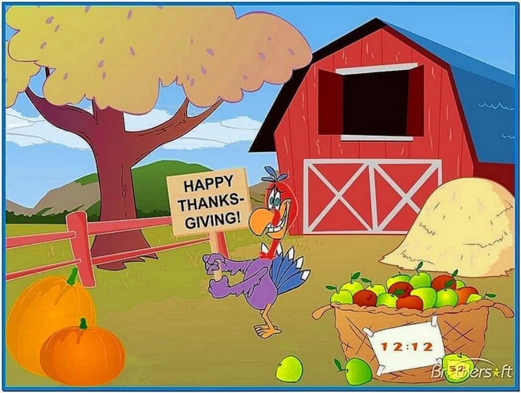 Animated Thanksgiving Screensaver