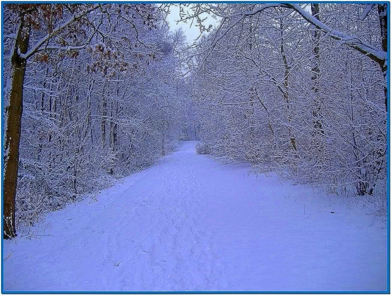 Animated winter scenes screensaver - Download free