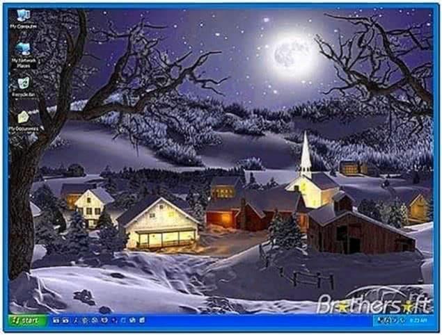Animated Winter Screensaver