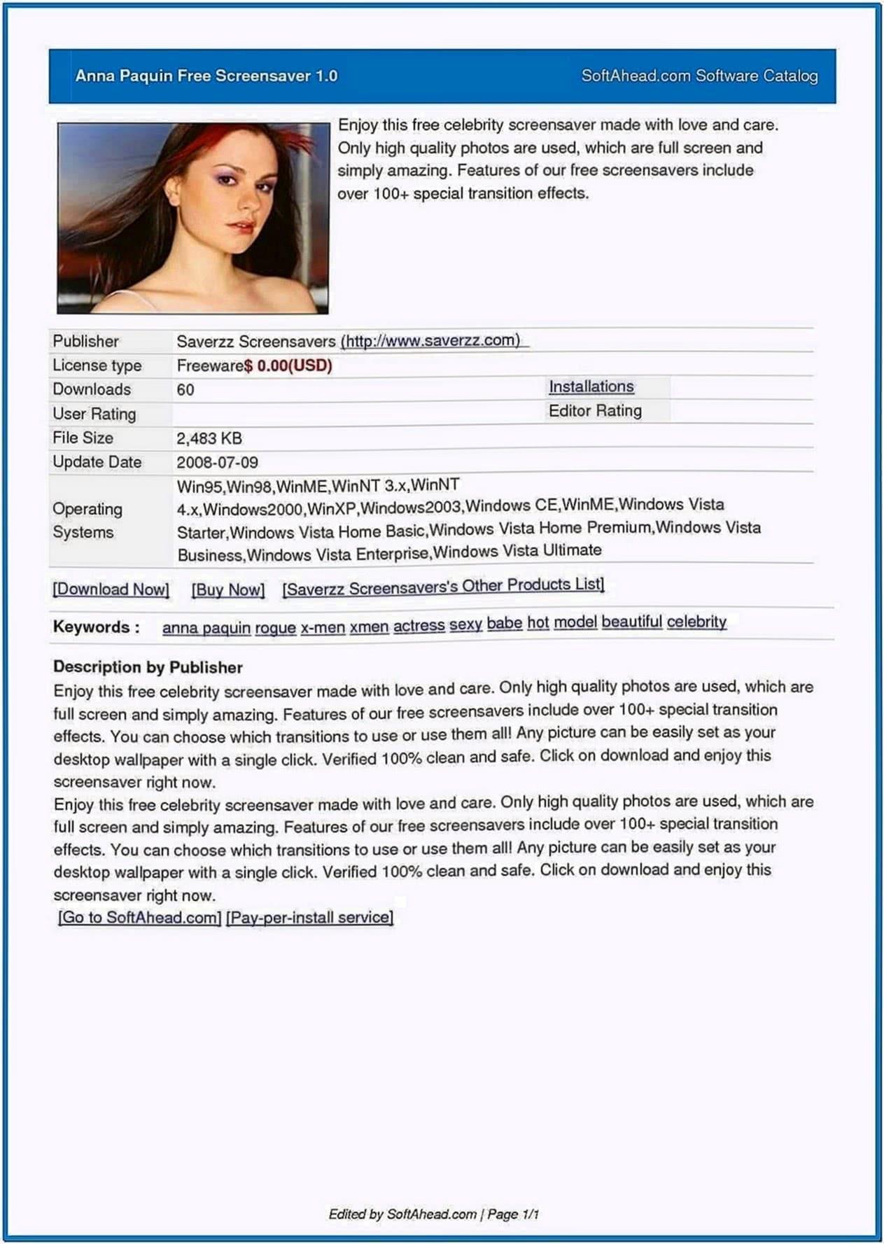 Anna Screensaver 1.0