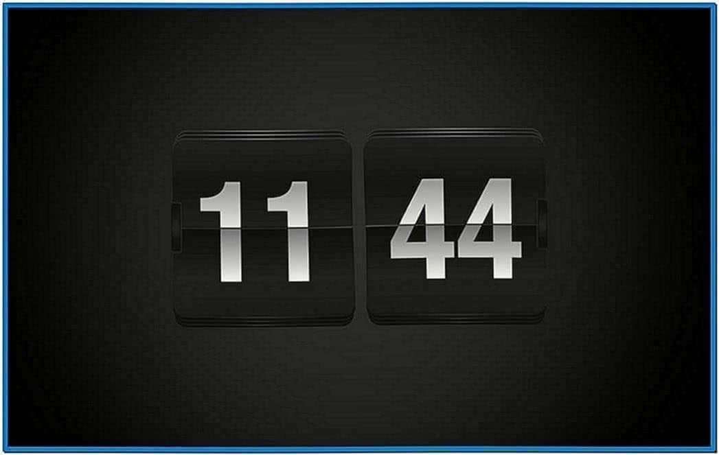 Apple Clock Screensaver Fliqlo