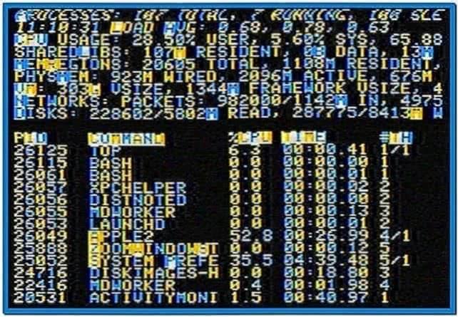 Apple II Screensaver Mac