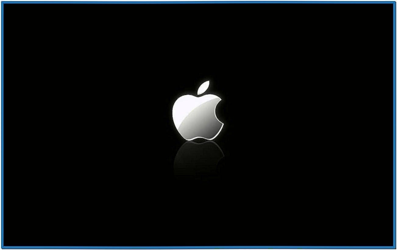 Apple logo screensaver Mac