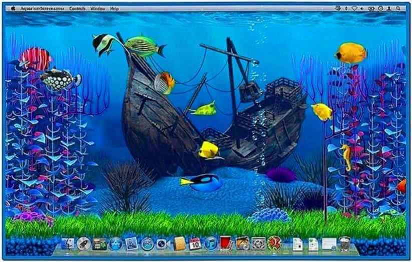 Apple mac aquarium screensaver download free for Fish tank screen