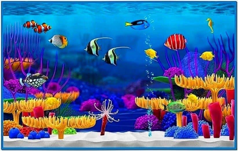 Apple Mac Fish Tank Screensaver