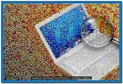 Apple photo mosaic screensaver