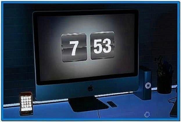 Apple screensaver clock flip