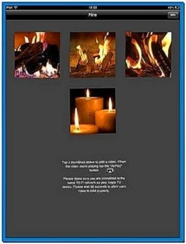Apple TV 2 Fireplace Screensaver