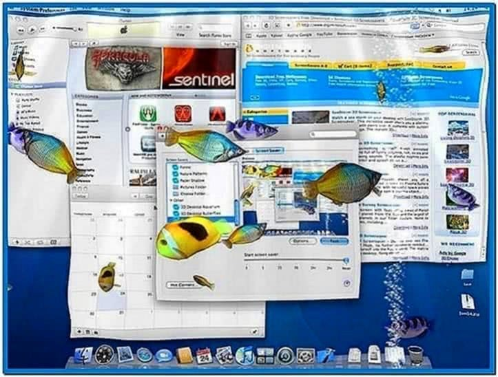 Aqua 3D Screensaver Mac OS X