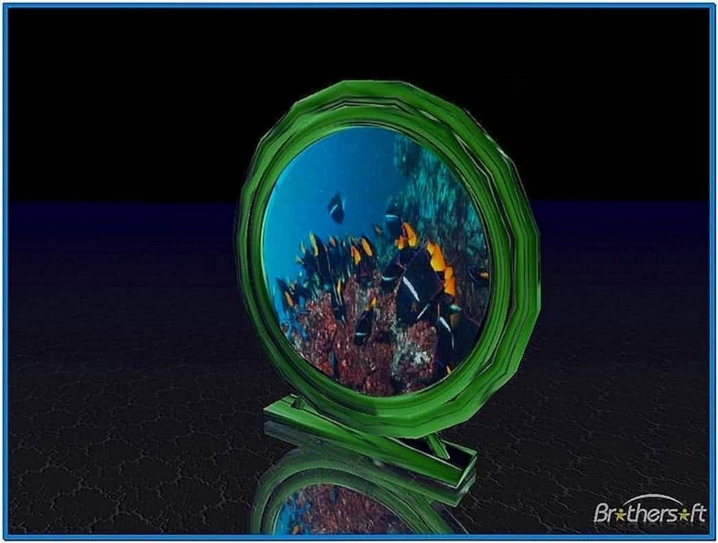 Aquarium Clock Screensaver 2.3