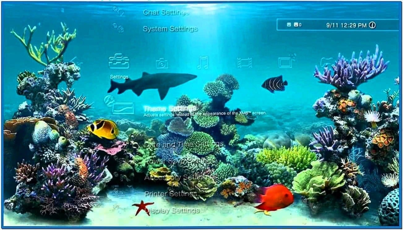 Aquarium Screensaver for PS3
