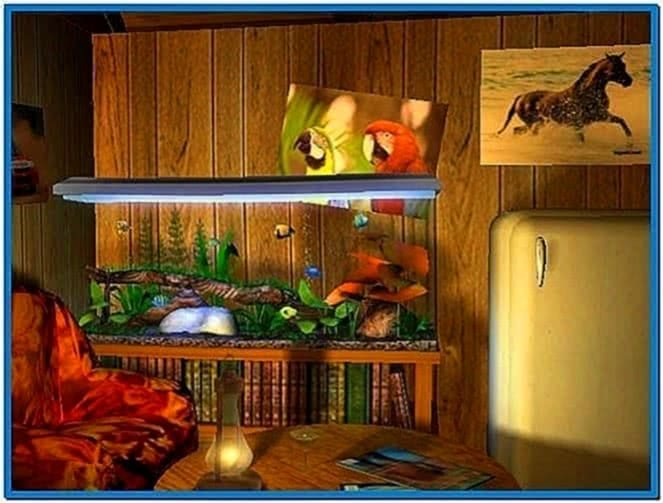 Astro Gemini 3D Bungalow Aquarium Screensaver