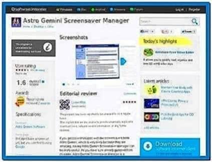 Astro Gemini Screensaver Manager