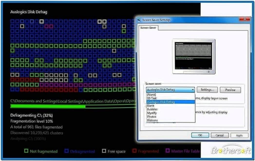 Auslogics Disk Defrag Screensaver 1.1.1.50