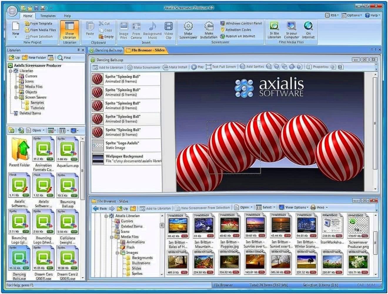 Axialis professional screensaver producer