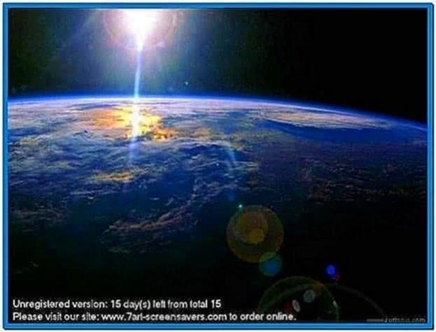 Best space screensaver Windows 7