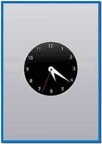Big Analog Clock Screensaver Mac