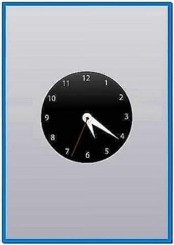 how to change imac screen saver to clock
