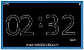 Big Clock Screensaver for Nokia 500