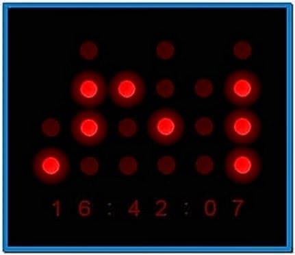 Binary Watch Screensaver Mac