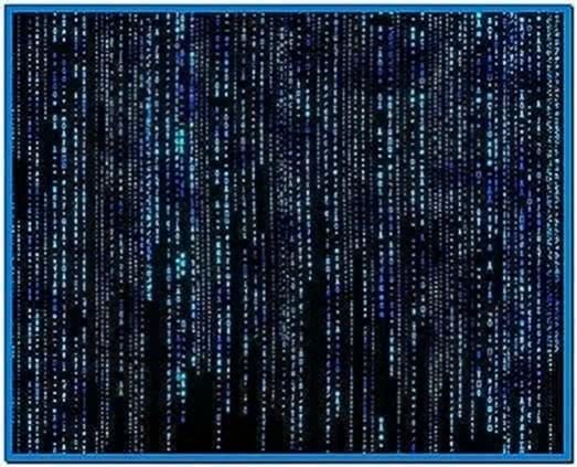 Blue Matrix Code Screensaver