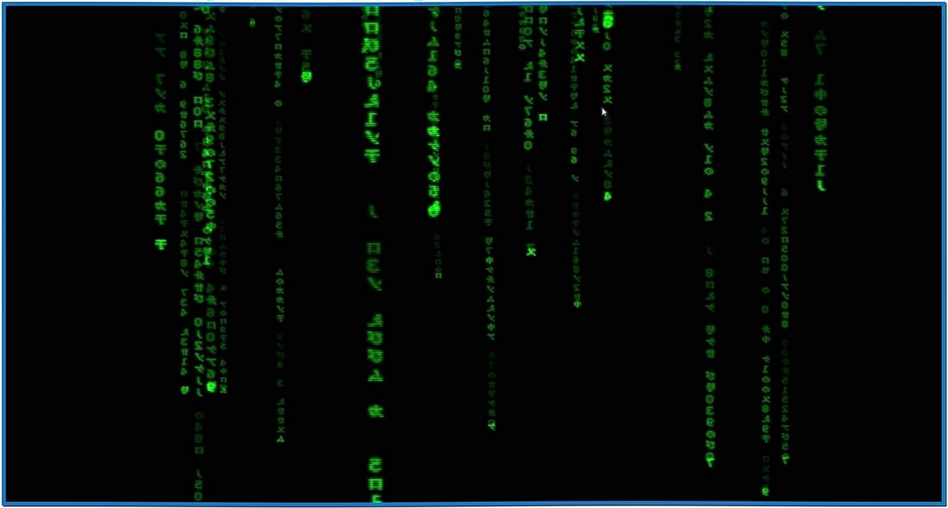 Blue Matrix Screensaver Linux