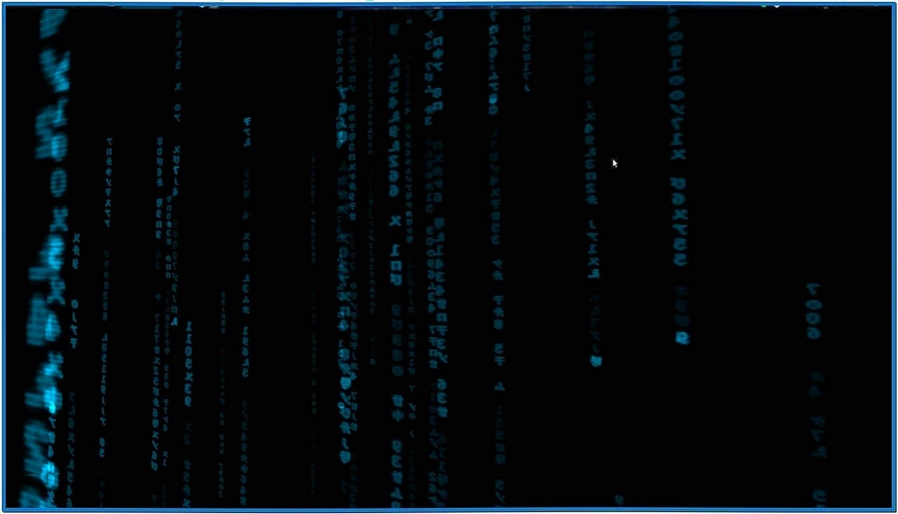 Blue Matrix Screensaver Linux