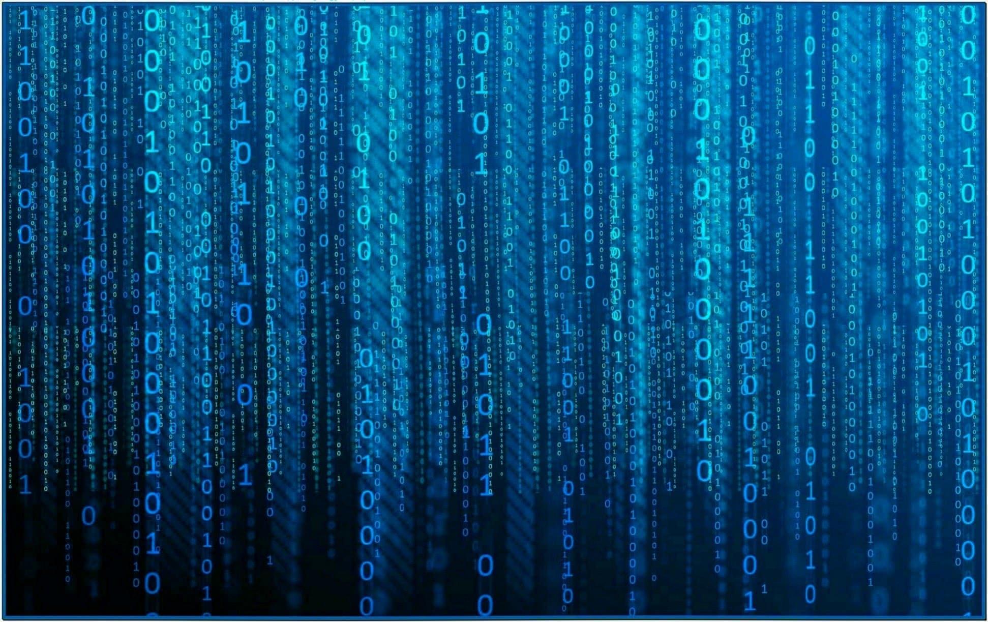 Blue Matrix Screensaver Mac