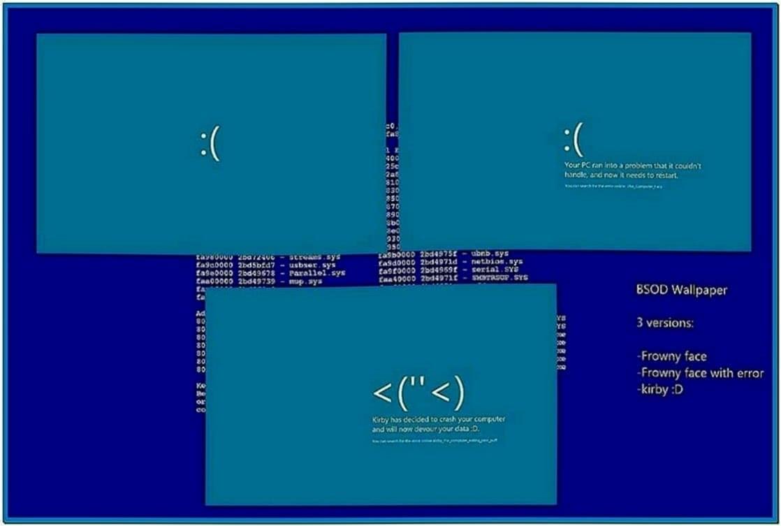 Blue Screen Screensaver Windows 8