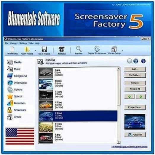 Blumentals Screensaver Factory Enterprise 6.1