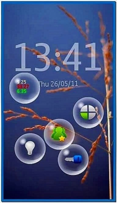 Bubbles Screensaver for Nokia N8