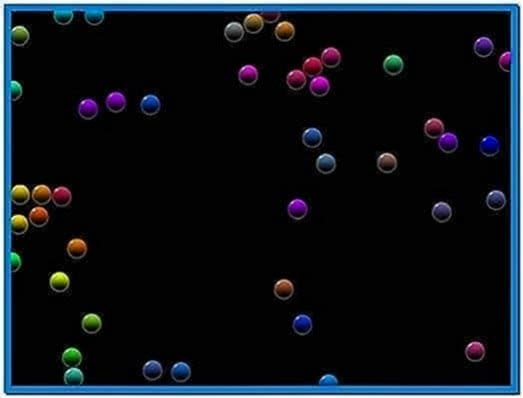 Bubbles Screensaver Black Background