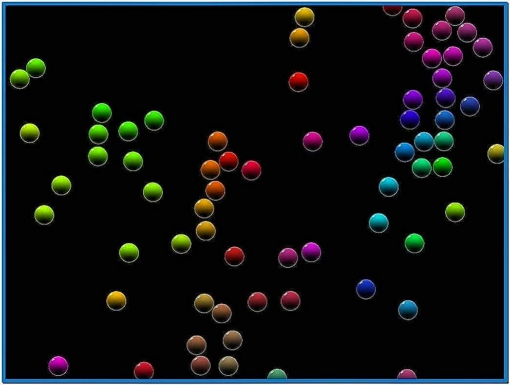 Bubbles Screensaver Has Black Background