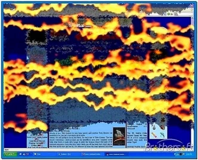 Burning Desktop Screensaver Windows 7