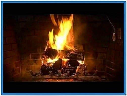 Burning Fireplace Screensaver Mac