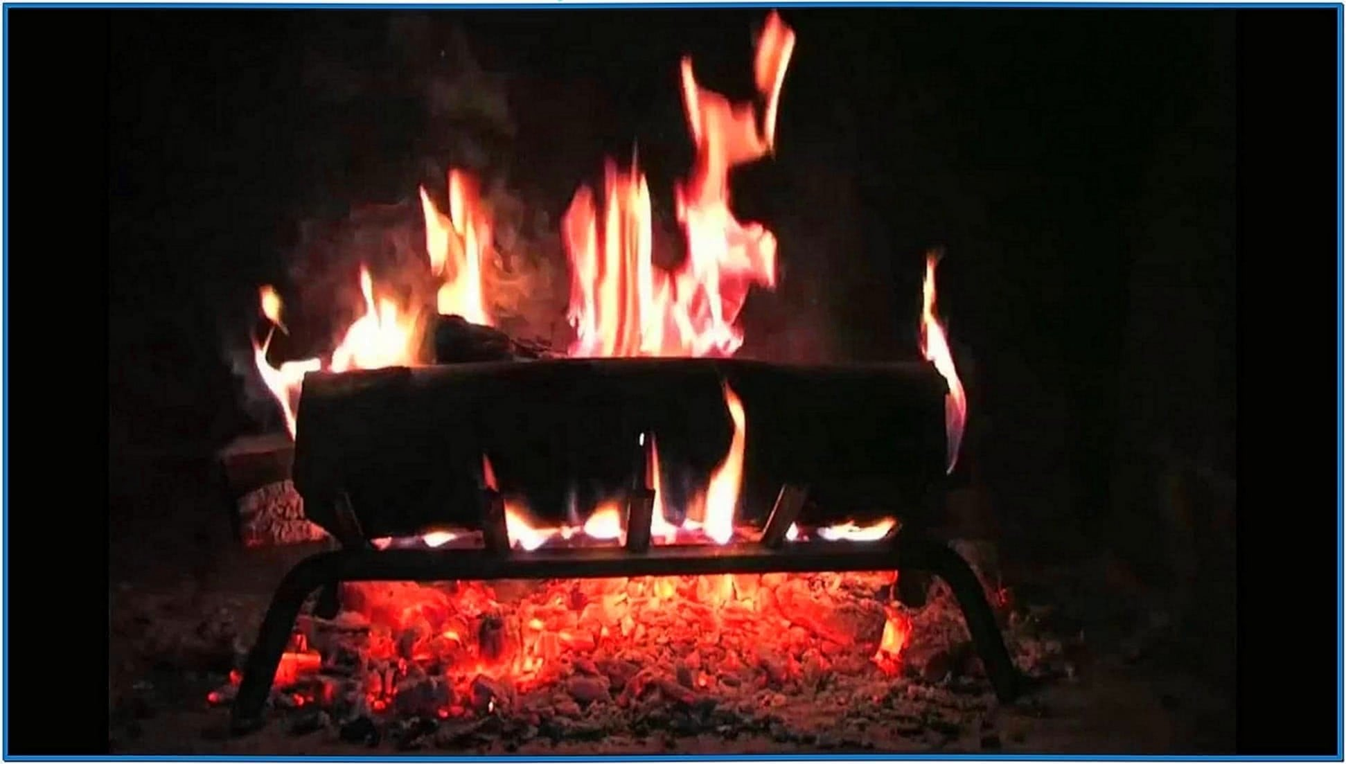 Burning Log Fire Screensaver Mac