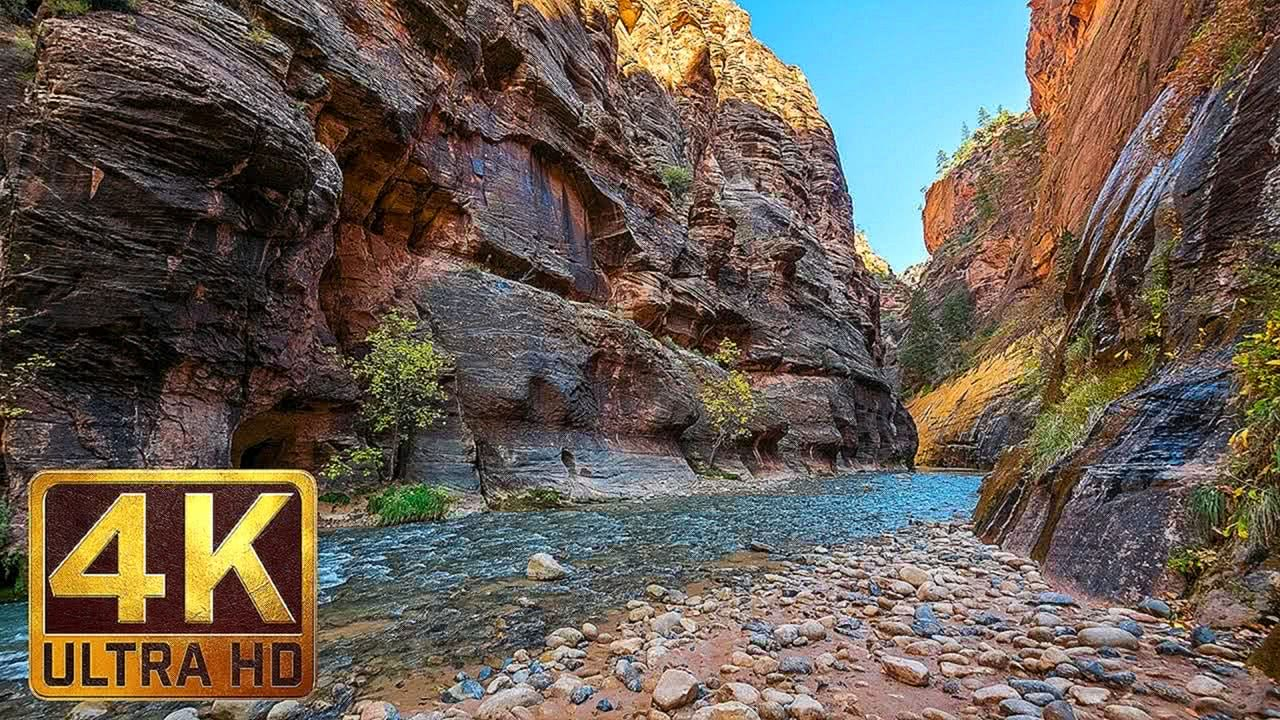 4K TV Screensaver & Beautiful Relaxing Music - Zion National Park. Episode 2
