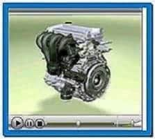 Car engine 3D animation screensaver