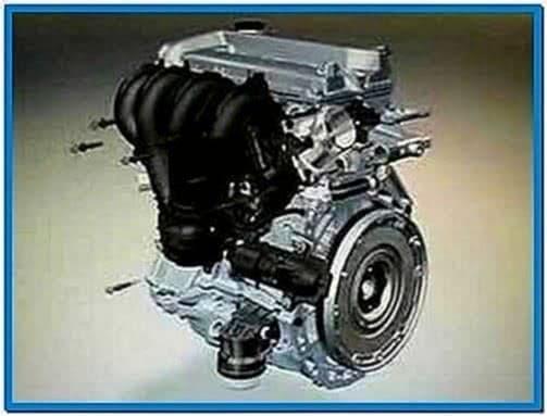 Car engine screensaver
