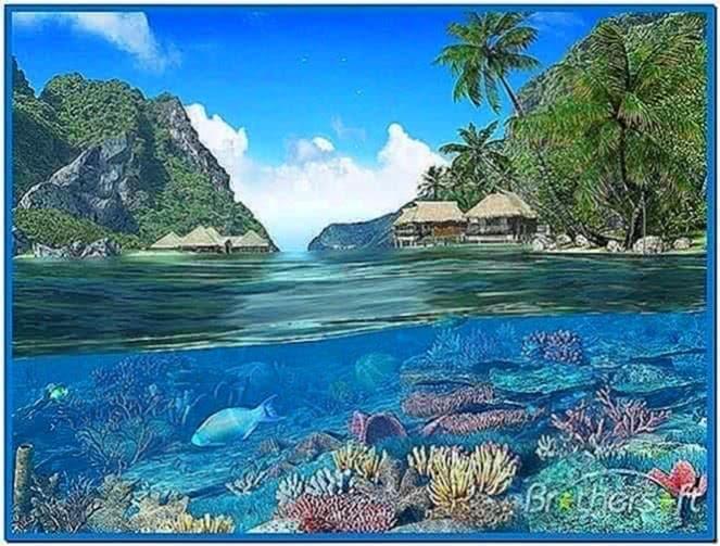 Caribbean islands 3D screensaver and animated wallpaper