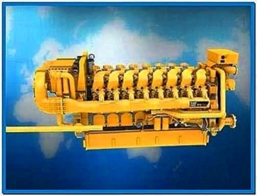 Caterpillar Engine Screensaver 3D